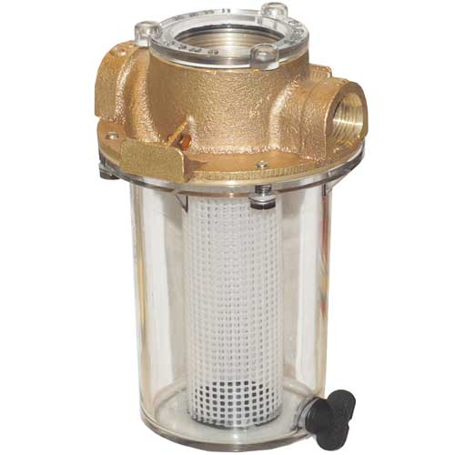 Groco 1-1/2 NPT ARG Raw Water Strainer with Stainless-Steel Strainer Basket