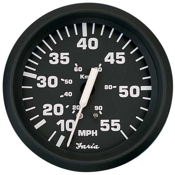 Faria Instruments Euro Speedometer, 4, 035 mph Sale $47.99 SKU: 3703592 ID# 32810 UPC# 759266328105 :