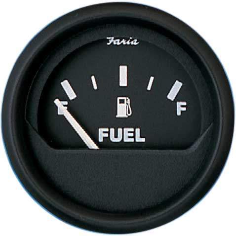 Faria Instruments Euro Series Fuel Level, 2, E1/2F