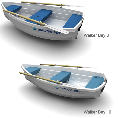 Walker Bay 10, 9'8 Length, 4'9 Beam, 126lb., 449lb. Capacity (up to 3 people)