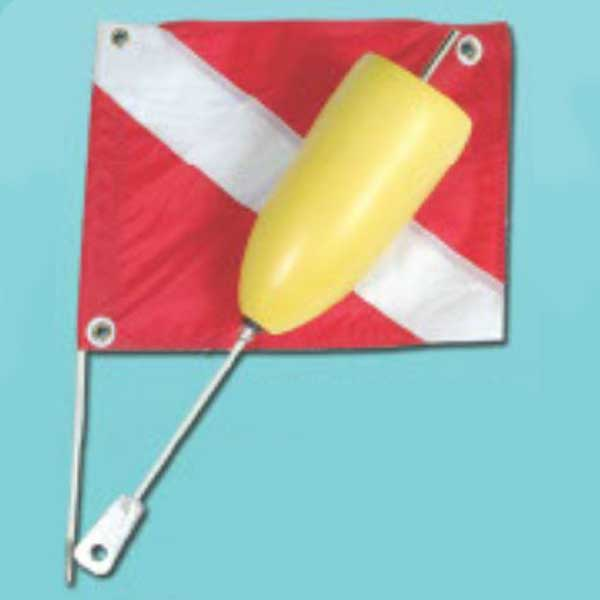 Marine Sports Torpedo Two Piece Float with Dive Flag
