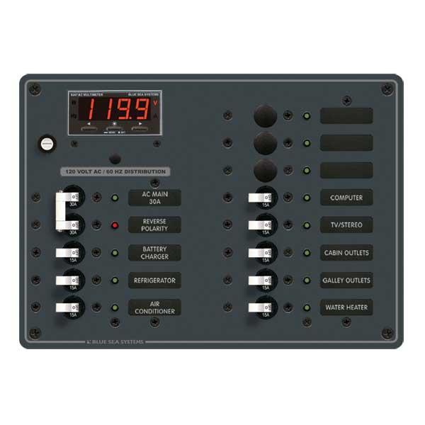 Blue Sea Systems 120V AC Main, AC Main + 11 Positions