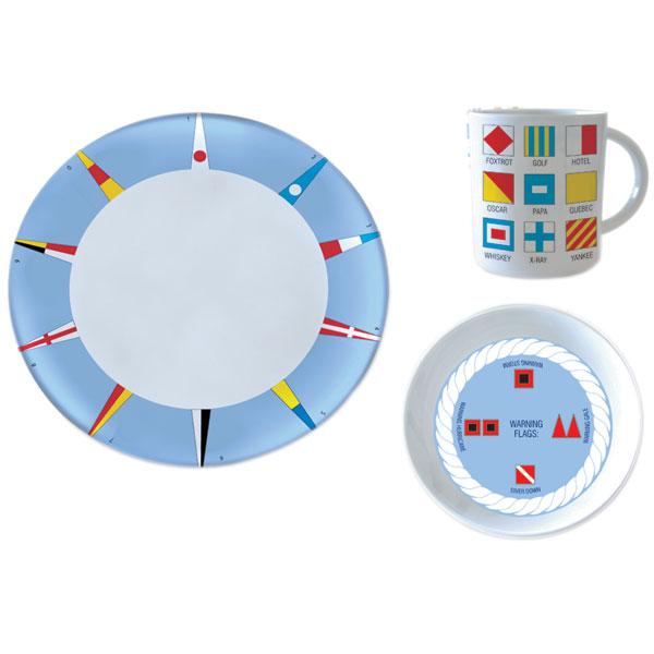 West Marine Code Flag 12-Piece Melamine Dinnerware Set