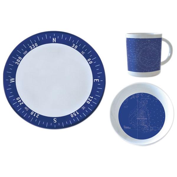 West Marine Navigation 12-Piece Melamine Dinnerware Set
