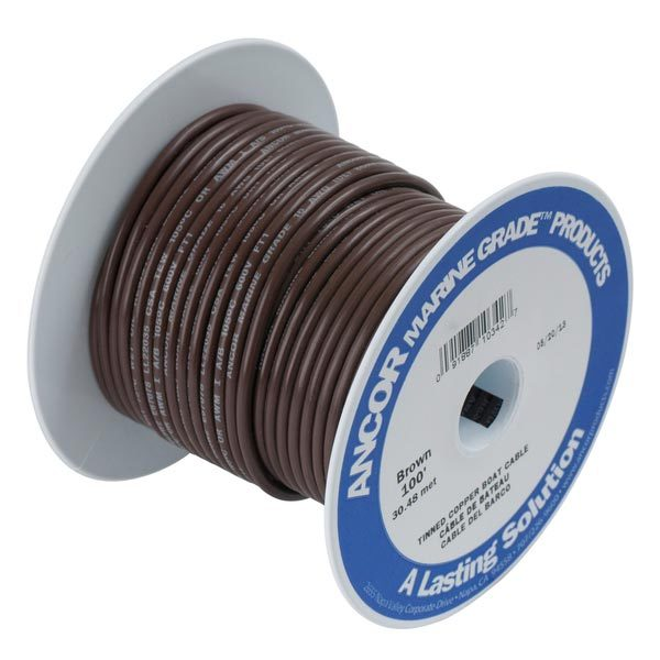 Ancor Gauge: 10 AWG; 100' Spool, Brown