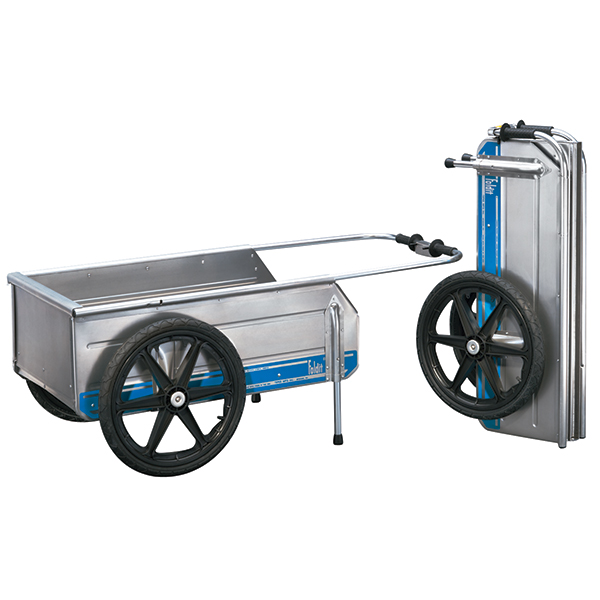 Tipke Manufacturing Foldit Cart, Blue Stripe with Black Wheels