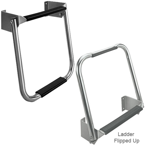 Compact Stainless-Steel Transom Ladder