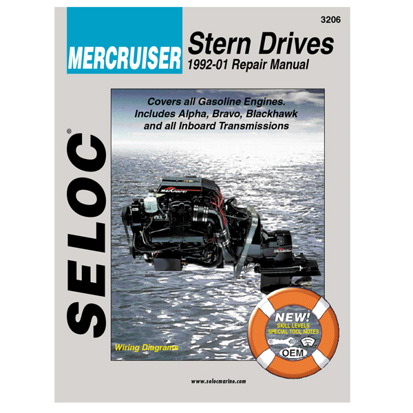 Seloc Marine Repair Manual - MerCruiser Stern Drive, 1992-2000, All gas engines, all HP
