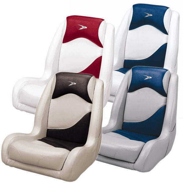 WISE White/Navy Deluxe Bucket Seat