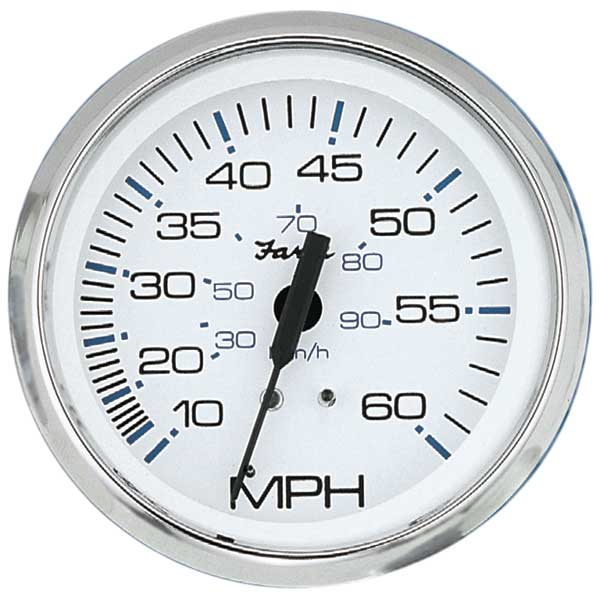 Faria Instruments Chesapeake Speedometer, White, 4, 0-55 mph