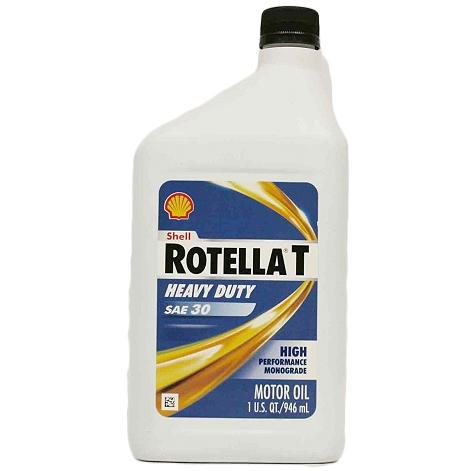 Shell Rotella 30W Motor Oil, Qt.