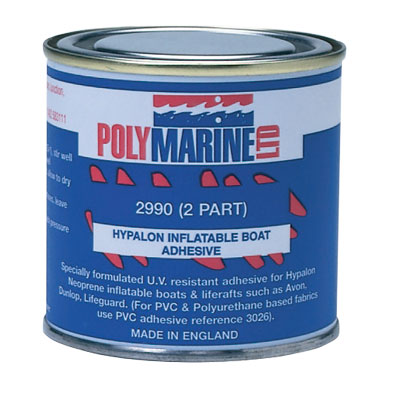 Poly Marine PVC Adhesive 2-Part, 250ml Can of Adhesive plus Bottle of Hardener