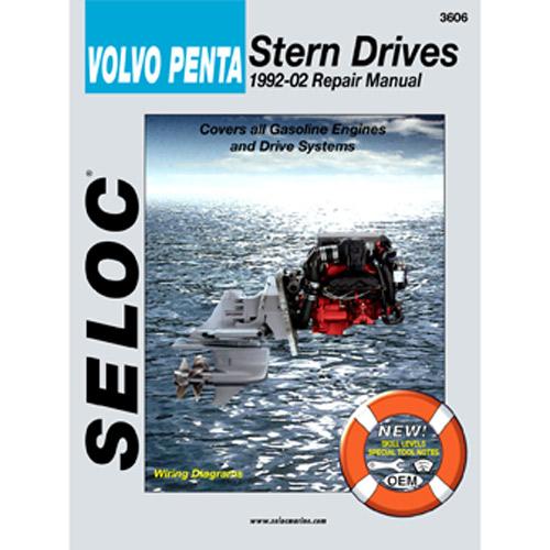 Seloc Marine Repair Manual - Volvo Penta Stern Drives, 1992-2002, All gas engines/drives Sale $37.99 SKU: 4683066 ID# 3606 UPC# 715568003607 :