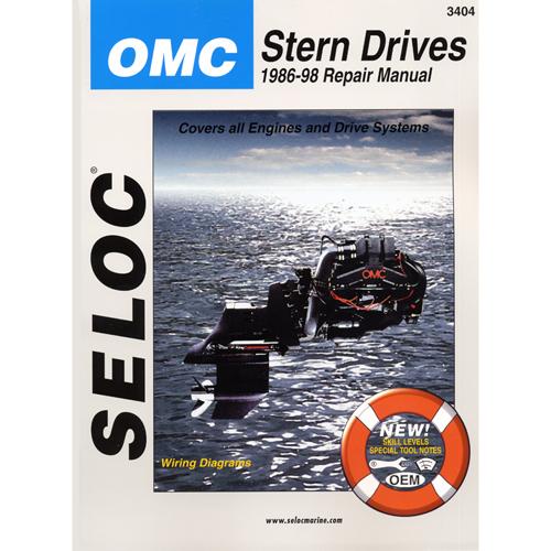 Seloc Marine Repair Manual - OMC Cobra Stern Drive, 1986-1998, All models Sale $37.99 SKU: 4683074 ID# 3404 UPC# 715568034045 :