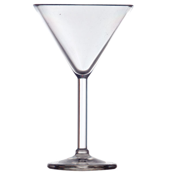 Galleyware Acrylic Martini Glass