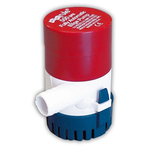 Rule Industries 500gph 12v Bilge Pump, 1.9a Draw At Dc, 3/4