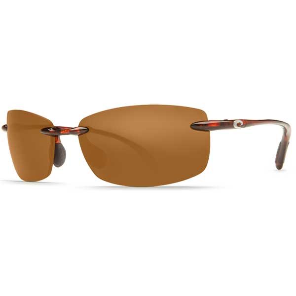 Costa Ballast Sunglasses, Tortoise Frames with Amber Polarized Plastic Lenses