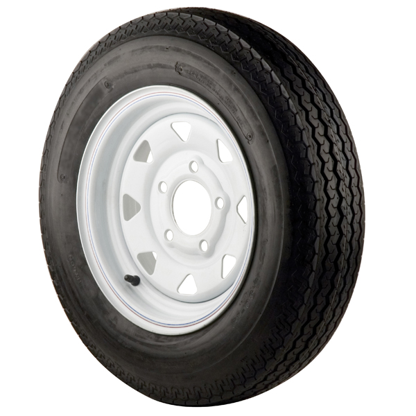 C E Smith Trailer Tires & Wheels - White Spoke, 530 x 12B, 4 Ply, 4 Bolt Sale $109.99 SKU: 5344544 ID# 16565 UPC# 768296003791 :