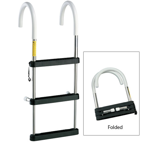 Garelick 4-Step Telescoping Hook Ladder, 23L (Stowed), 51L (Deployed) x 16W Sale $154.99 SKU: 5362462 ID# 06141:01 UPC# 38203061412 :
