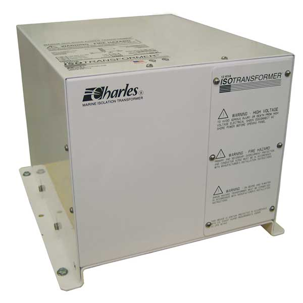 Charles Marine Marine Isolation Transformer, 12KVA with Terminals, 50A, Input 240V 50/60Hz, Output 120/240V 60Hz, 16Dx15Wx12H