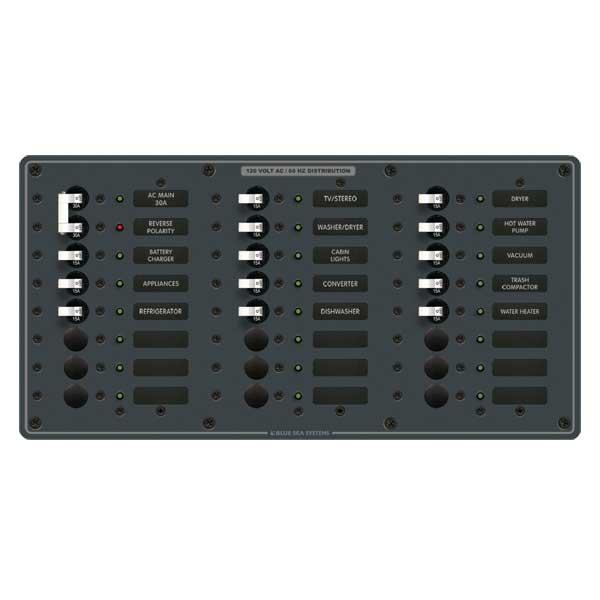 Blue Sea Systems 120V AC Main, Main + 22 Positions