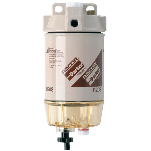 Diesel Fuel Water Filter : Racor r spin on series diesel fuel filter water
