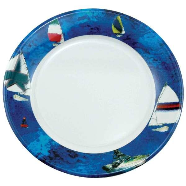 Galleyware Patterned Dinnerware - Salad Plate, 8, Spinnaker