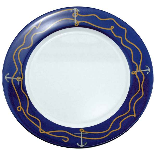 Galleyware Patterned Dinnerware - Dinner Plate, 10, Anchorline Sale $9.29 SKU: 564487 ID# 1205 UPC# 650620012053 :