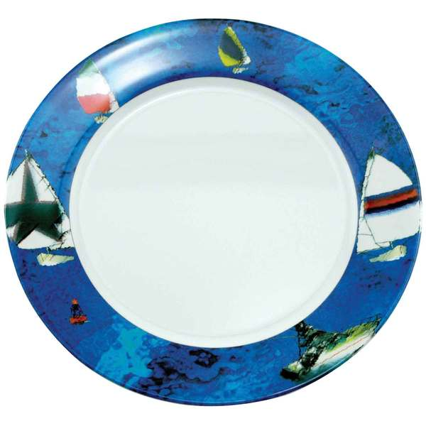 Galleyware Patterned Dinnerware - Dinner Plate, 10, Spinnaker