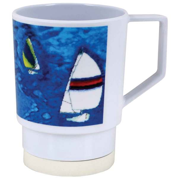 Galleyware Patterned Dinnerware - Mug, 12oz, Spinnaker