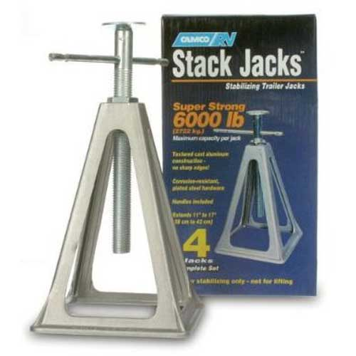 Camco Olympian Aluminum Stack Jack Stand (4)