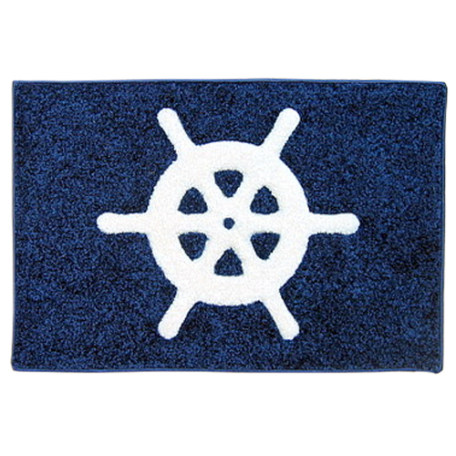 Coastal Custom Carpets Ships Wheel Boarding Mat, 27W x 18H