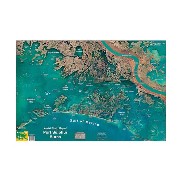 Standard Mapping Service Port Sulfur/Buras, Louisiana Laminated Map Sale $19.95 SKU: 615851 ID# LM042 UPC# 654149100420 :