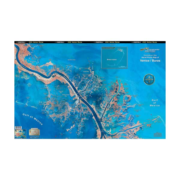 Standard Mapping Service Venice/Buras, Louisiana Laminated Map