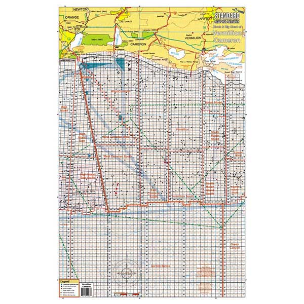 Standard Mapping Service Vermillion/Cameron, Louisiana Block and Rig Chart Sale $13.77 SKU: 624622 ID# LM037 UPC# 654149100376 :