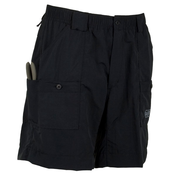 Men's M01L AFTCO Original Long Fishing Shorts, Black, 33 Sale $54.00 SKU: 12883070 ID# M01L-BLK-32 UPC# 54683890892 :
