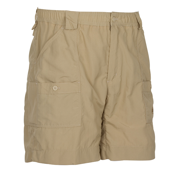 Men's AFTCO Original Long Fishing Shorts, Khaki, 40