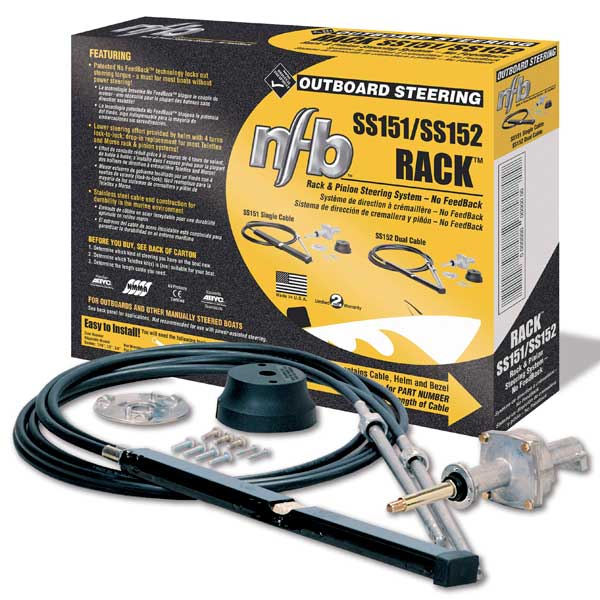 Seastar Solutions 16' Rack & Pinion Steering System - No Feedback, Dual Cable
