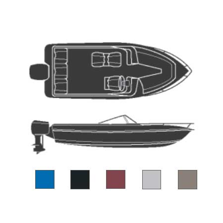 Attwood Boaters Best Polyester Cover, 22'6L, 96 Beam Width, Burgundy