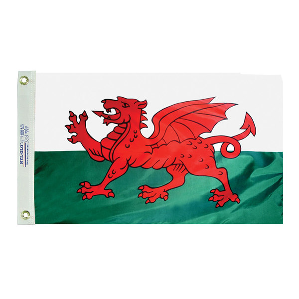 Annin Flagmakers Dyed Wales Flag, 12W x 18L