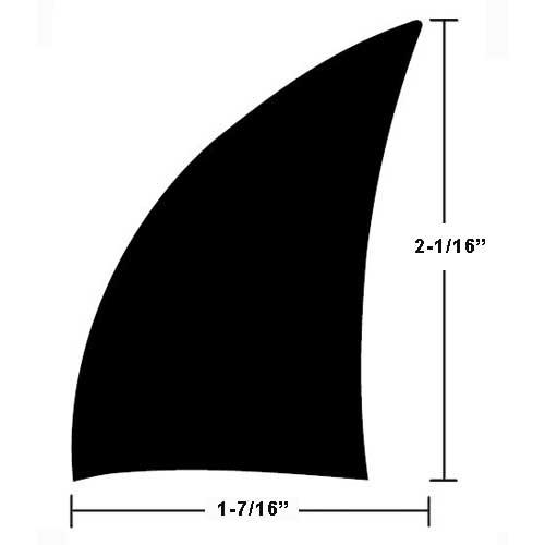 TACO Rigid Vinyl Spray Rail - 2-1/16 H x 1-7/16 W