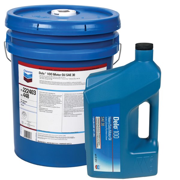 Chevron DELO 100 Diesel Engine Oil - SAE 40, 5 GA