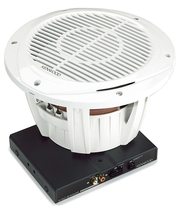 Kenwood Marine 10 Subwoofer Mono Amp Package - White