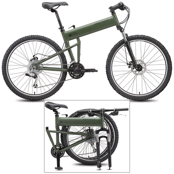 Montague 20 Paratrooper Folding Mountain Bike, Fits Individuals 5'11 to 6'4; 31 Standover Height