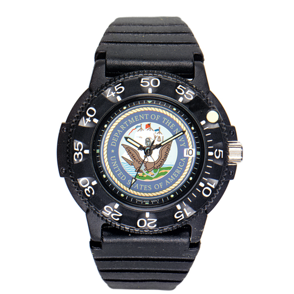 Del Mar U.S. Navy Waterproof Watch with Dive Band