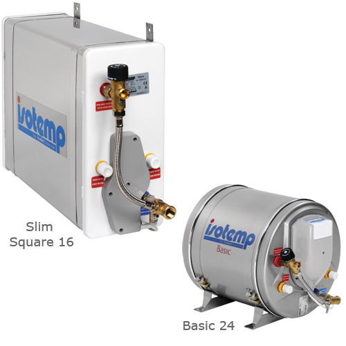 Isotherm Slim 15 Water Heater, 4 gal. Capacity, 21-1/4L x 11-3/8dia.