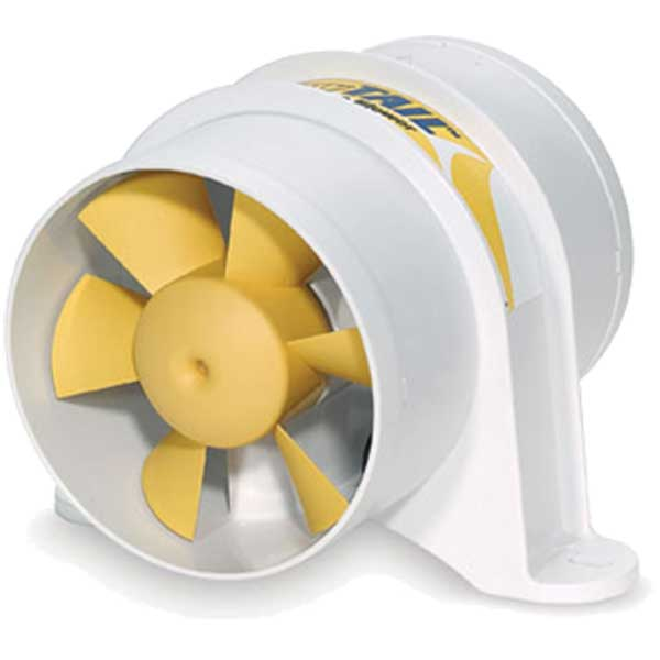 Shurflo Yellowtail Marine Blower, 4 Hose, 220 CFM, 5.1 x 6.4 x 4.8