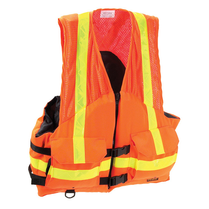 Stearns ANSI-Compliant Utility Flotation Vest, X-Large Sale $134.99 SKU: 7912983 ID# I424ORG-05-ANS UPC# 44411486725 :