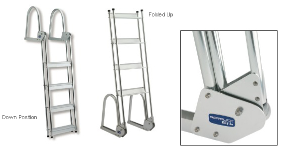 Anodized Aluminum Flip-Up Dock Ladder