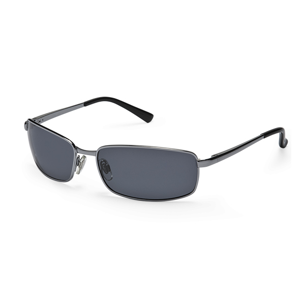 Sunbelt Optic Neptune Polarized Sunglasses, Shiny Gunmetal Frames, Dark Gray Lenses